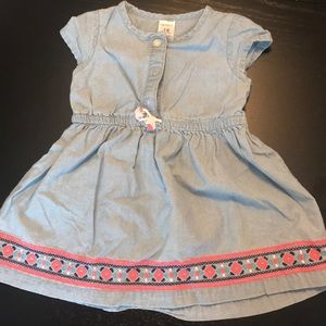 Carters chambray embroidered dress